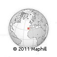 """Outline Map of the Area around 34° 56' 49"""" N, 14° 22' 30"""" W, rectangular outline"""