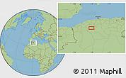 Savanna Style Location Map of Sidi Yahia