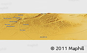 Physical Panoramic Map of 'Aïn el Boualek
