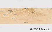 Satellite Panoramic Map of 'Aïn el Boualek