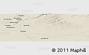 Shaded Relief Panoramic Map of Moulguelouane