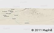 Shaded Relief Panoramic Map of Sidi Yahia