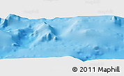"Shaded Relief Panoramic Map of the area around 34° 56' 49"" N, 27° 16' 29"" E"