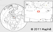"""Blank Location Map of the area around 34°56'49""""N,28°58'30""""E"""