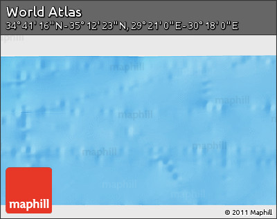 """Shaded Relief 3D Map of the Area around 34°56'49""""N,29°49'30""""E"""