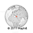"""Outline Map of the Area around 34° 56' 49"""" N, 29° 49' 30"""" E, rectangular outline"""