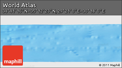 """Shaded Relief Panoramic Map of the Area around 34°56'49""""N,29°49'30""""E"""