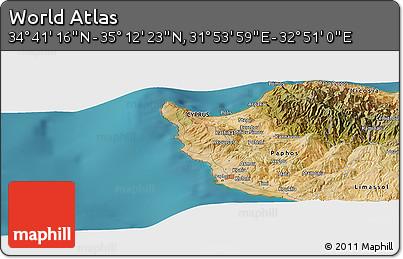"Satellite Panoramic Map of the Area around 34°56'49""N,32°22'30""E"