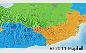 Political 3D Map of Ayios Dhimitrios