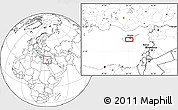 """Blank Location Map of the area around 34°56'49""""N,33°13'30""""E"""