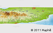 Physical Panoramic Map of Monagri