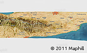 Satellite Panoramic Map of Pano Lefkara