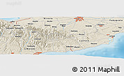 Shaded Relief Panoramic Map of Pyrgos