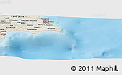 "Shaded Relief Panoramic Map of the area around 34° 56' 49"" N, 34° 4' 30"" E"
