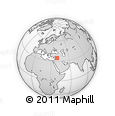 Outline Map of Syria, rectangular outline