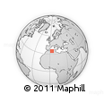 """Outline Map of the Area around 34° 56' 49"""" N, 3° 28' 30"""" E, rectangular outline"""