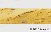 """Physical Panoramic Map of the area around 34°56'49""""N,3°28'30""""E"""