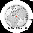 Outline Map of Hajin, rectangular outline