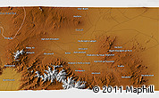 """Physical 3D Map of the area around 34°56'49""""N,48°31'29""""E"""
