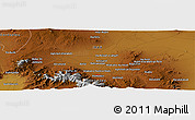 """Physical Panoramic Map of the area around 34°56'49""""N,48°31'29""""E"""