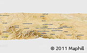 Satellite Panoramic Map of Hamadān