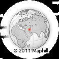 Outline Map of Ţavāleh, rectangular outline