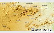 Physical 3D Map of Aïoun Aïcha