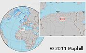 Gray Location Map of 'Aïn Rhezal
