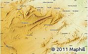 Physical Map of Aïoun Aïcha