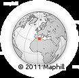 Outline Map of Aïoun Aïcha, rectangular outline