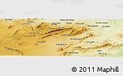 Physical Panoramic Map of Aïoun Aïcha