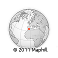 Outline Map of Azrhar, rectangular outline