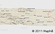 "Shaded Relief Panoramic Map of the area around 34° 56' 49"" N, 50° 13' 30"" E"