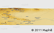 "Physical Panoramic Map of the area around 34° 56' 49"" N, 51° 4' 30"" E"