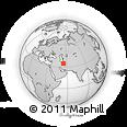 Outline Map of Dasht-e Kavir, rectangular outline