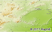 """Physical Map of the area around 34°56'49""""N,5°10'30""""E"""