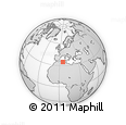 """Outline Map of the Area around 34° 56' 49"""" N, 5° 10' 30"""" E, rectangular outline"""