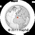 Outline Map of El Outaya, rectangular outline