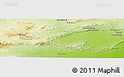 """Physical Panoramic Map of the area around 34°56'49""""N,5°10'30""""E"""