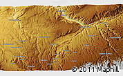 Physical 3D Map of Darvāzeh