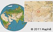 Satellite Location Map of Badal
