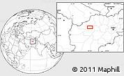 Blank Location Map of Bādgah