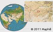 Satellite Location Map of Bādgah