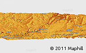 """Political Panoramic Map of the area around 34°56'49""""N,67°13'29""""E"""