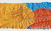 Political 3D Map of Bāmīān