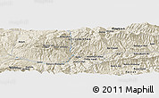 Shaded Relief Panoramic Map of Darreh-ye Sang-e Bālā