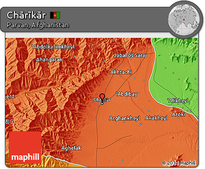 Free Political D Map Of Chārīkār - Charikar map