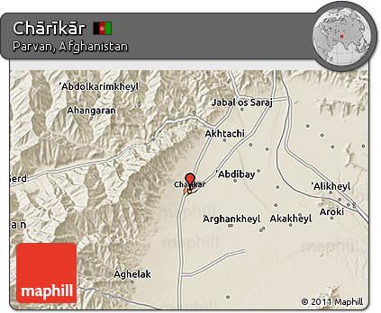 Free Shaded Relief D Map Of Chārīkār - Charikar map