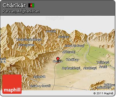Free Satellite Panoramic Map Of Chārīkār - Charikar map