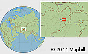 "Savanna Style Location Map of the area around 34°56'49""N,69°46'30""E"